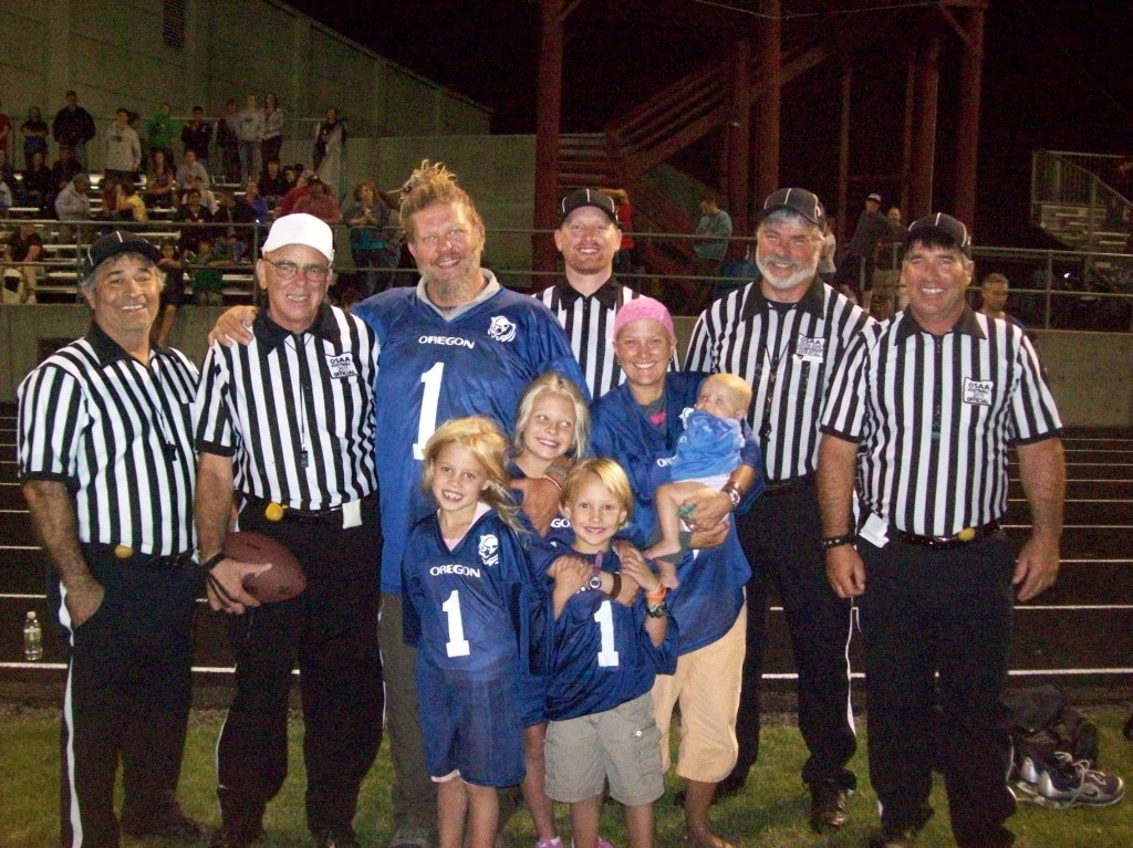 The McCoy Family with the Pig Bowl Officials