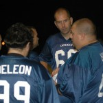 The Oregon Team Huddles Up