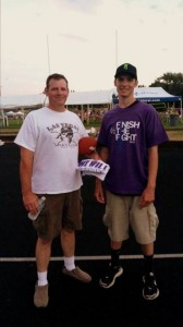 Donavan and his dad at Relay For Life